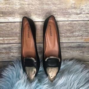Jeffery Campbell gold toe slip on shoe black dress